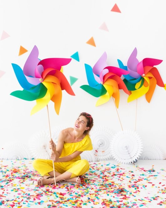 Giant Pinwheels design by Naomi Julia Satake for Oh Happy Day!