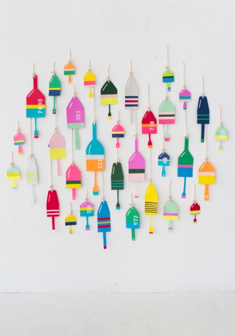 Paper Lobster Buoy design by Naomi Julia Satake for Oh Happy Day!