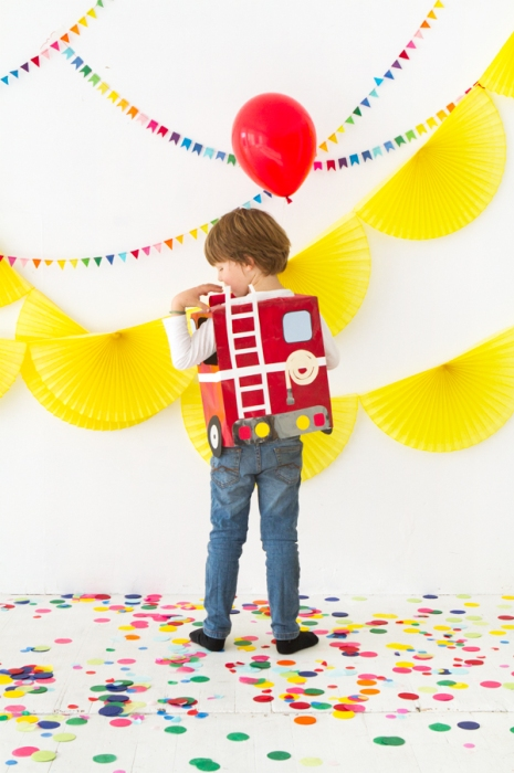 Firetruck Paper Costume by Naomi Julia Satake for Oh Happy Day!