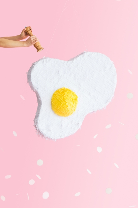 Fried Egg Pinata by Naomi Julia Satake for Oh Happy Day!