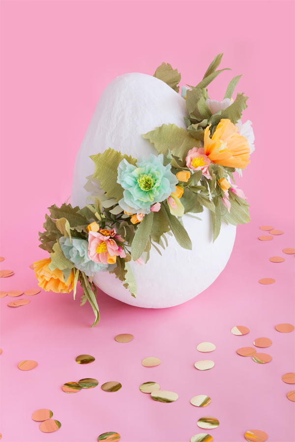 Giant Floral Egg by Naomi Julia Satake for Oh Happy Day!