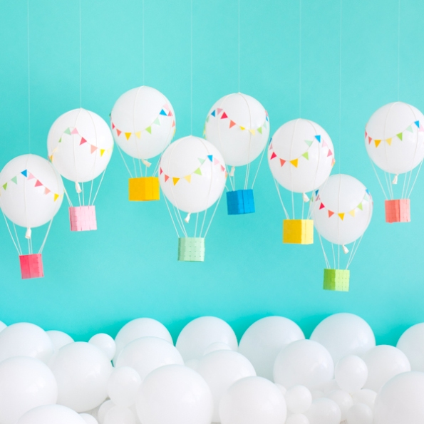 Hot Air Balloons by Naomi Julia Satake for Oh Happy Day!