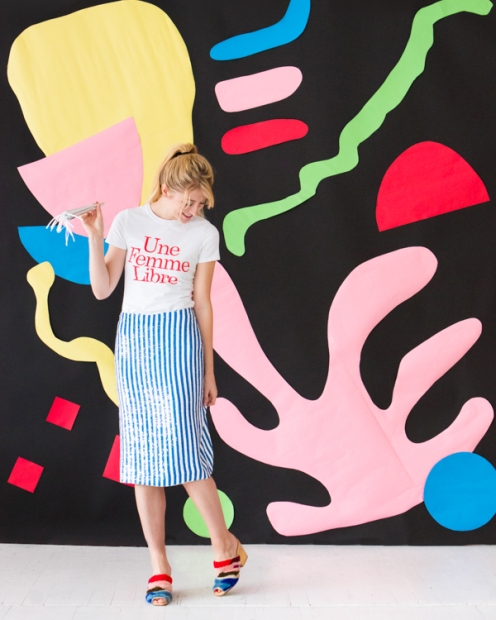 Matisse Inspired Backdrop by Naomi Julia Satake for Oh Happy Day!